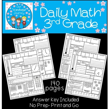 Daily Math For 3rd Grade By Our Wonderful Journey Tpt border=