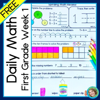 Daily Math for First Grade FREE