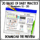 Number Sense Daily Math for First Grade Month 1