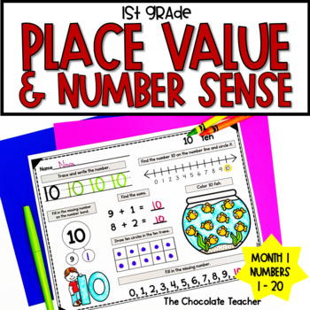Number Sense Activities Daily Math Month 1 Number and Operations in Base 10