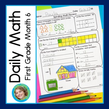 Daily Math for First Grade - Month 6