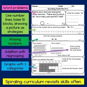 Daily Math for First Grade - Month 8