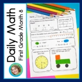 Daily Math for First Grade Month 8