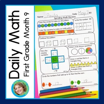 Daily Math for First Grade - Month 9