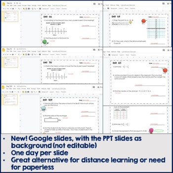 6th Grade Daily Math: Warm Ups/Homework, Days 61 - 120