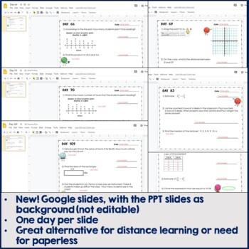 6th Grade Daily Math Warm Ups: Spiral Review, Days 61 - 120