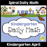 Morning Work Spiral Math | Kindergarten April
