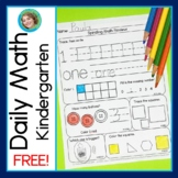 Daily Math for Kindergarten Back to School Week One FREE