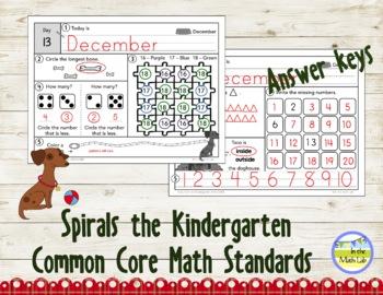 Morning Work | Kindergarten December