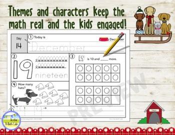 Morning Work Spiral Math | Kindergarten December