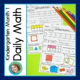 Daily Math for Kindergarten Month 1