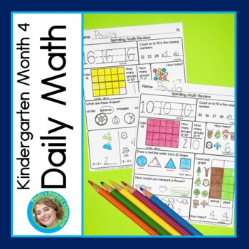 Daily Math for Kindergarten Month 4 DISTANCE LEARNING