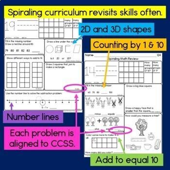 Daily Math for Kindergarten Month 7