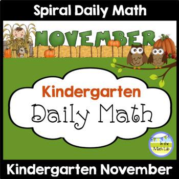 Morning Work | Kindergarten November
