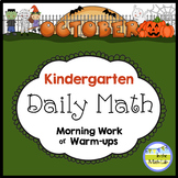 Kindergarten Math Spiral Review OCTOBER Morning Work or Warmups