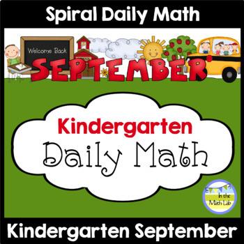 Morning Work | Kindergarten September