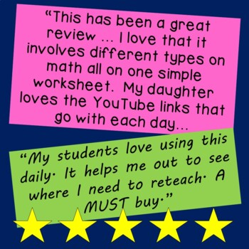 Daily Math for Second Grade Month 3