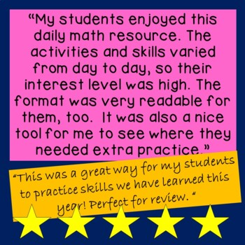 Daily Math for Second Grade Month 6