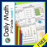 Daily Math for Second Grade Week 1 FREEBIE