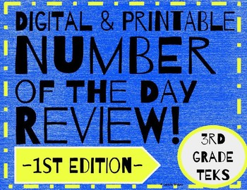 Daily Math: # of the Day Review- 1st Edition (Digital and Printable)