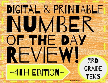 Daily Math: # of the Day Review- 4th Edition (Digital and Printable)