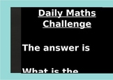Daily Maths Challenge Poster