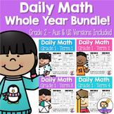 Daily Math Review 1st Grade WHOLE YEAR BUNDLE! (Aus & US Version)
