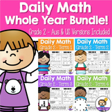 Daily Maths Review – Grade 2 Year BUNDLE! (Aus & US Version)