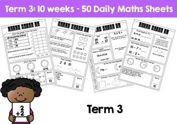 Daily Math Review – Grade 2 Year BUNDLE! (Aus & US Version)