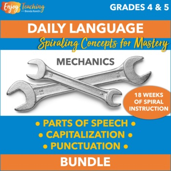 Daily Language 4/5 - Parts of Speech, Capitalization, and Punctuation Bundle