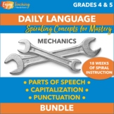 Daily Language Review - Parts of Speech, Capitalization, and Punctuation Bundle