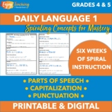 Daily Oral Language (Parts of Speech, Capitalization & Punctuation), Set 1