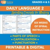 Daily Oral Language (Parts of Speech, Capitalization & Punctuation), Set 2