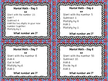 Daily Mental Math - What Number Am I?
