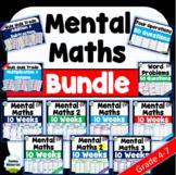 Daily Mental Maths Classroom Bundle | Full Year! | Grades