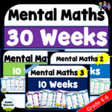 Daily Mental Maths Distance Learning Pack | Grades 4-6 | NO PREP