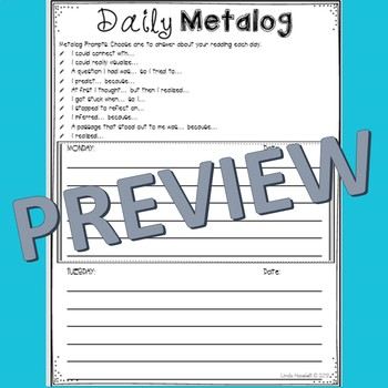Daily Metalog Reading Response Form