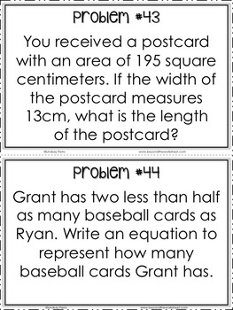 Middle School Math Word Problems