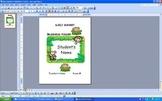 Daily Monkey Business Take Home Folder Coversheet - Jungle Themed