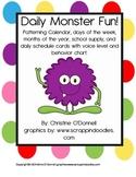 Daily Monster Fun: Patterning Calendar, Classroom Rules & decor