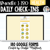 Daily Morning Check-Ins Bundle - 180 Google Forms (Distance)