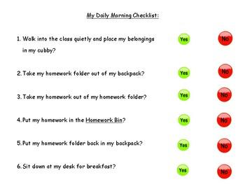 Daily Morning Checklist