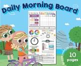 Daily Morning Circle Time Board, EDITABLE, Pre/Kinder, Homeschool, Calendar,
