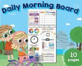 Daily Morning Circle Time Board, EDITABLE, Pre/Kinder, Homeschool, Calendar