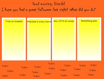 Daily Morning Greetings for SmartBoard - November