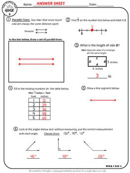 Daily Morning Math Grade 4 {Weeks 1-4}