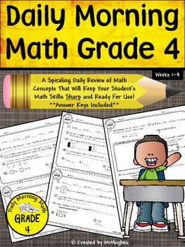 Daily Morning Math Grade 4 {Weeks 1-4}