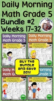 Daily Morning Math Grade 5 Bundle #2 {Weeks 17-32}