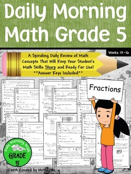 Daily Morning Math Grade 5 {Weeks 13-16}