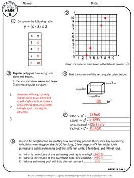 Daily Morning Math Grade 5 {Weeks 21-24}